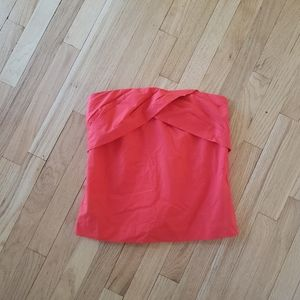 NWT J.Crew Red Stapless Tube Top